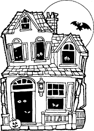 Small Picture Printable halloween coloring pages Printable Halloween Haunted