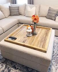 wood ottoman tray oversized ottoman
