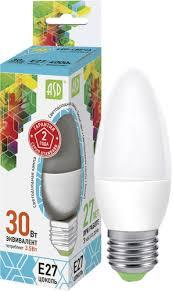 Светодиодная <b>лампа Asd</b> LED-<b>Свеча</b>-<b>standard</b>-3.5-E27-4000 ...