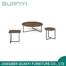 design round metal leg coffee table