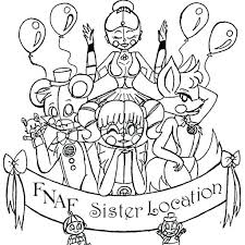 Ideas Five Nights At Freddys Coloring Pages Or 5 Nights At Sister
