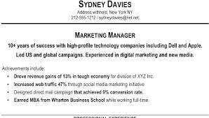 Sample Profile Statements For Resumes Skills Profile Resume Examples