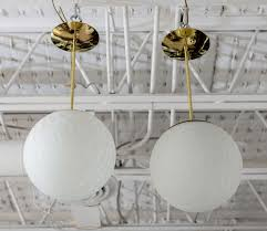 chandeliers and pendant lighting. Frosted Crackle Glass Globe Lights With Polished Brass Fittings, Circa 1960. Professionally Restored And Chandeliers Pendant Lighting D