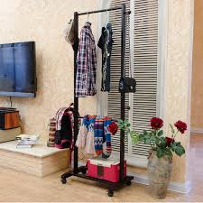 Hanger Style Coat Rack Korean European double rod hangers coat rack floor bedroom clothes 64