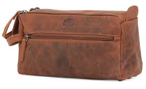 leather toiletry bag for men hygiene organizer travel dopp kit by rustic town brown com