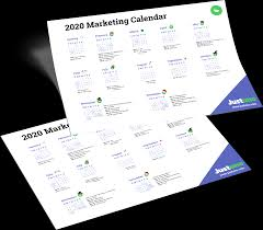 2020 Marketing Calendar Justuno