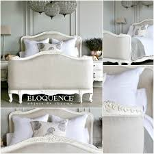 Louis Xv Bedroom Furniture Eloquence Sophia Louis Xv Linen Upholstered Bed Antique White