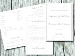 Free Microsoft Word Wedding Program Template Free Half Fold Wedding Program Templates Template Word