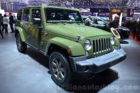 2018 jeep motor. perfect 2018 jeep wrangler 75th anniversary edition front three quarter at the 2016  geneva motor show for 2018 jeep motor