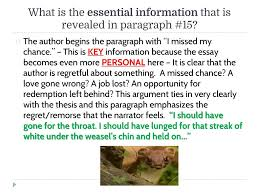 "living like weasels"" analyzing the essay as a class ppt video  5 what"