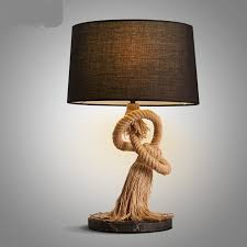 american country style retro table lamps lamp bar personality study decorative fabric headboard lamp lighting bedroom