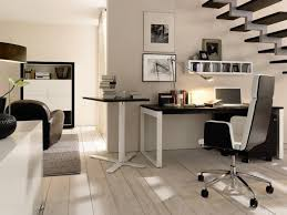 Home office idea for those who wish to use space under the staircase