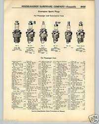Details About 1936 Paper Ad 2 Sided Champion Spark Plug Specs Chart Cars Tractors Trucks
