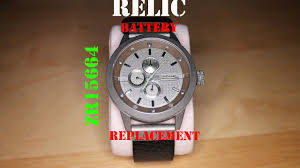 Relic Watch Battery Chart Relic Watch Battery Replacement Zr15664