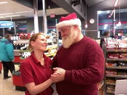 Santa Hans in disguise and visiting the QuikTrip employees at 15th ...
