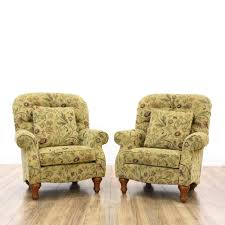 lazy boy armchair luxury pair la z boy beige fl armchairs