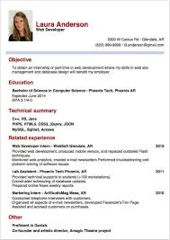 Resume Example How To Write A Resume For An Internship Resume
