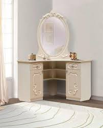 white luxury corner dressing table designs