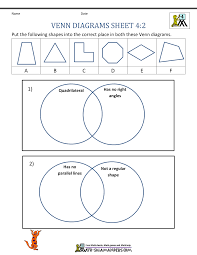 Venn Diagram Practice Sheets Venn Diagram Worksheet 4th Grade