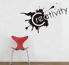 words wall sticker quote wall sticker creativity english quote vinyl wall art on wall art words with creativity english quote vinyl wall art
