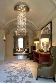 hallway crystal chandelier captivating modern foyer chandeliers small lighting ideas round like bubble and lamp farmhouse