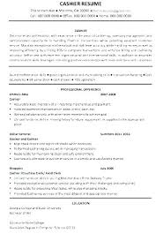 Resume Format For Cashier Resume Format Sample For Job Application ...
