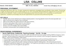 Cv Personal Statement Example Zppj Website With Photo Gallery