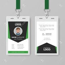 Company Id Card Template Creative Corporate Id Card Template With Green Details