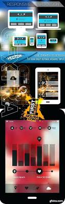 Responsive Infographic Template Realistic Devices Responsive Design