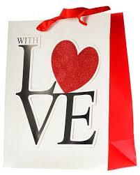 Купить <b>Пакет подарочный УРРА</b> With love с аппликацией ...