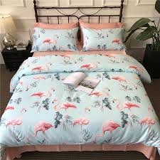 100 cotton bed linen full queen king size duvet covers pink flamingo bedding sets bedsheets 4 pillowcases shams canada 2019 from prettyxiu