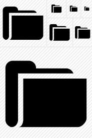 folder icon black and white. Wonderful And Folder Icon With Black And White