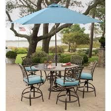 patio table umbrella blue