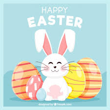 vector flat happy easter day background