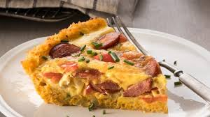 photo of cauliflower crusted quiche with hillshire farm smoked sausage by hillshire farm