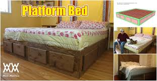 How to Build a King Size Bed With Extra Storage Underneath: Free ...