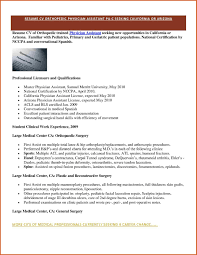 Physician Resume Resumes Sample Medicine Format Assistant Examples