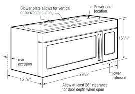 standard microwave size. In Cabinet Microwave Dimensions Profile . Standard Size W