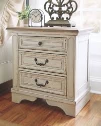 Image Bedroom The Realyn Twotone Three Drawer Night Stand Available At Affordable Furniture Serving Avon Ma Affordable Furniture The Realyn Twotone Three Drawer Night Stand Available At Affordable