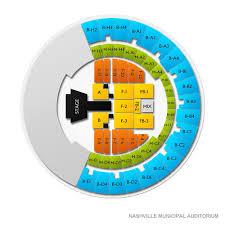 Nashville Municipal Auditorium 2019 Seating Chart