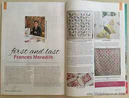 Fabadashery Longarm Quilting: Article - 'First and Last, Frances ... & Article - 'First and Last, Frances Meredith, British Patchwork and Quilting  Magazine, February 2018 Adamdwight.com