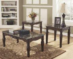 faux marble top coffee and end table
