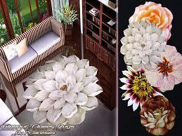glamour flower rugs