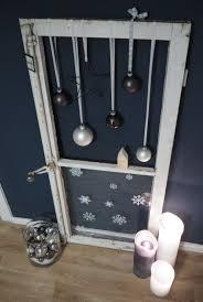 Weihnachtlich Dekoriertes Fenster Fensterladen Okno Alte