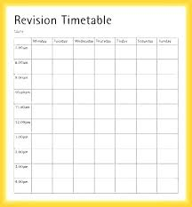 Revision Schedule Template Revision Timetable Revision Timetable Template Revision