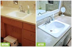 spray paint bathroom countertop spray painting laminate awesome easy spray paint ideas that will save you