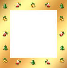 gold frame border png. Christmas Gold Frame Border 3d Ornaments Stocking Png