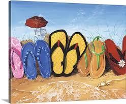 flip flops canvas prints puzzle