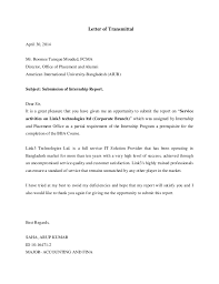 Letters Of Transmittal Letter Of Transmittal Acknowledgement Executive Summary