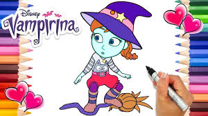 From transylvania to pennsylvania, this adorable little vampire is trying to do things the human way. The Witch I Want To Be Vampirina Coloring Page Vampirina Coloring Book Disney Jr Printable Youtube